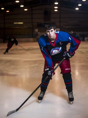 Bryce Krattiger, Great Falls Americans high school hockey captain, is a year round athlete who also plays baseball and participate in track.