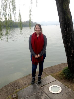 Sara Urner at West Lake in Hangzhou, China.
