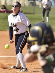 Ally Brown is expected to start in the circle for Greencastle on Tuesday, when the Blue Devils take on Garden Spot in the District 3 Class AAA semifinals.