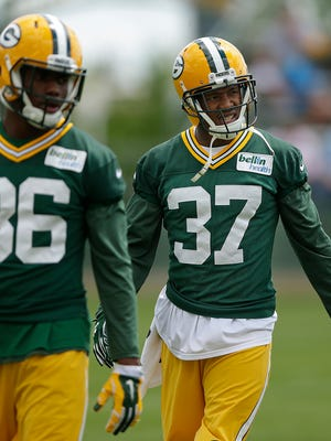Green Bay Packers cornerback Sam Shields (37) during Organized Team Activities at Ray Nitschke Field.