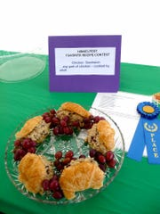 Shirley Rudy, of Fredericksburg, took first place in the adult cook sandwiches division with her curried chicken salad sandwiches.