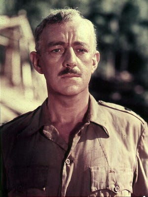 """Alec Guinness won an Oscar for playing Lt. Col. Nicholson in """"The Bridge on the River Kwai."""""""