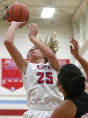 """Instead of Anna (Jones) trying to do everything herself, we've focused more on getting everybody in to help and score a few buckets while Anna keeps getting her 20 to 30 a night,"" said Lady Bruins head coach Tony Shutes after USJ won at Trinity Christian Academy Trinity Christian Academy's girls 71-55 Saturday night."