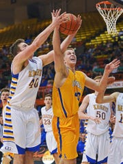 Aberdeen Central's Cole Bergan (40)