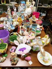 Thrift stores are your best bet for inexpensive and cute Easter decor!