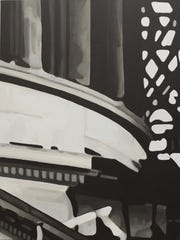 """""""Inauguration Day V (Looking Up)"""" by Dane Carder, acrylic"""