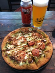 TailGate Brewery Music Row: Caprese pizza with Singer IPA.