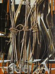 "Jim Jobe, ""In the Line of Your Ties"", oil on canvas,"