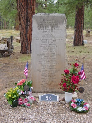 United Airline's Memorial in the Grand Canyon Pioneer Cemetery marks  the 1956 TWA/United air disaster. The cemetery is closing due to lack of space.