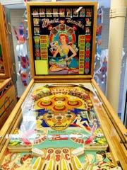 Vintage pinball machine at the Roanoke Pinball Museum