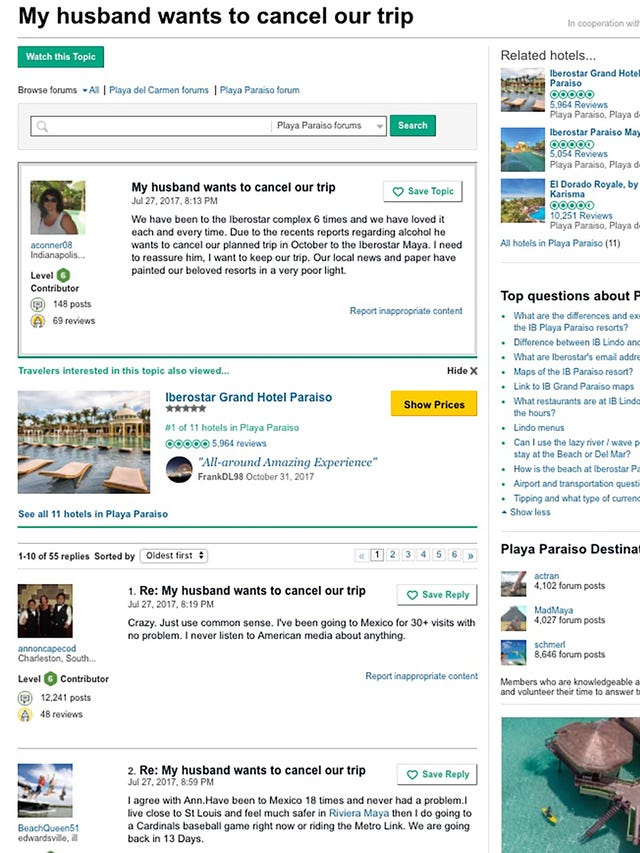 Mexico resort blackouts: TripAdvisor blocked warnings