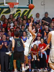 McNicholas guard Ryan Reidy makes this fall away jumper