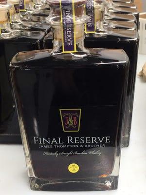 Final Reserve James Thompson & Brother Kentucky Straight Bourbon Whiskey.