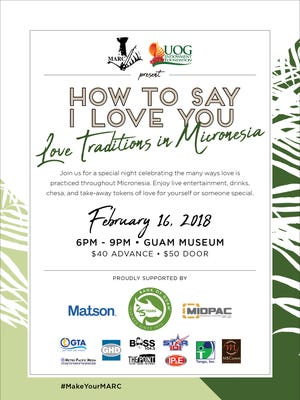 The University of Guam Endowment Foundation in junction with the Micronesia Area Research Center welcome guests to attend their fundraising event of love traditions in the Micronesia at the Guam Museum this Friday. The festivities begin 6 p.m. to 9 p.m. and tickets may be purchased early at the MARC Library or the Endowment Office for $40 dollars or $50 on the day of the fundraiser. For more information, you may reach the MARC at 735-2160 or the Endowment at 735-2957.