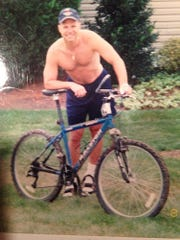 Troy Dellorfano before his biking accident.