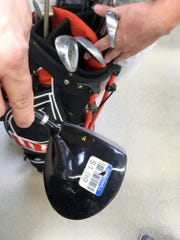 Golf clubs are a good buy at Goodwill stores, ranging price from $2.99 to $6.99 for most clubs.