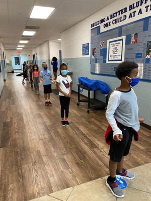 The Boys & Girls Club of Bluffton followed a local mask ordinance and other social distancing requirements during its summer camp.