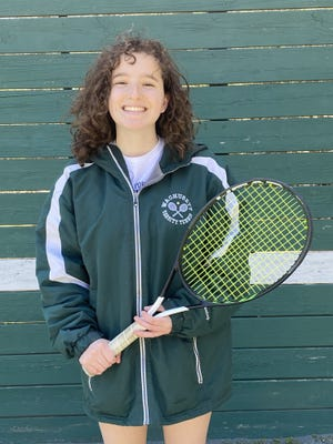 Grace Penning, co-captain of the WRHS tennis team, will be headed to UMass Dartmouth in the fall.