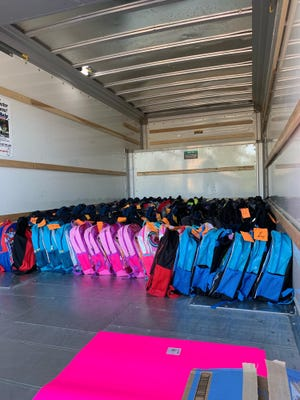 Healthy Grandparents distributed 150 backpacks filled with supplies to assist families in Richmond and Columbia counties.