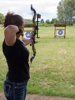 The beginner targets are at distances from 5 to 20 yards at a new area archery park.
