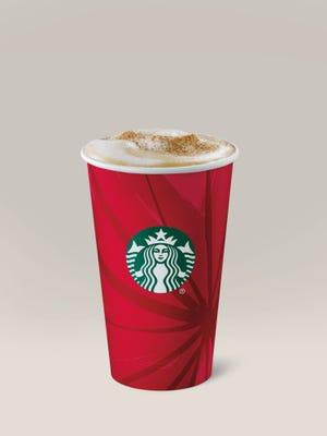 Starbucks' Eggnog Latte.