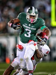 LJ Scott is the likely workhorse for the Spartans'