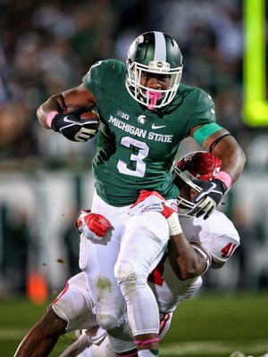 LJ Scott is the likely workhorse for the Spartans' offense in 2016