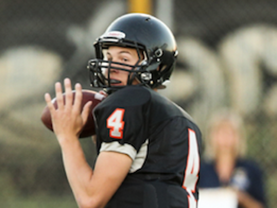 Silverton quaterback Levi Nielsen threw for 223 yards and two touchdowns in a 23-17 win against Sandy on Friday.