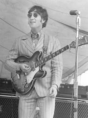 John Lennon of the Beatles during the concert at Crosley