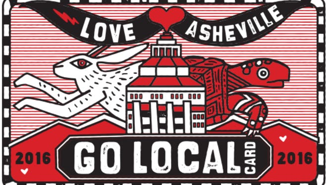The 2016 Go Local Card design is a nod to the pace of growth Asheville businesses would like to see.