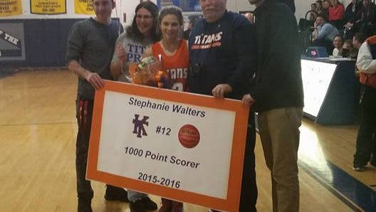Keansburg's Stephanie Walters scored her career 1,000th point on Friday night