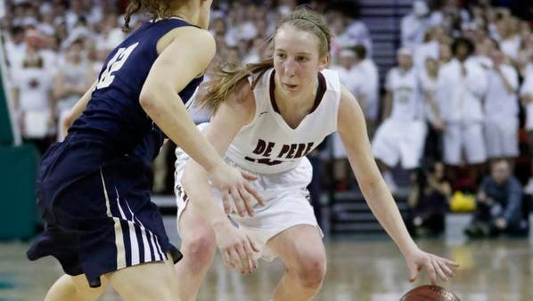 De Pere senior Lizzie Miller was one of four local players that was recognized on the Associated Press girls basketball all-state team.