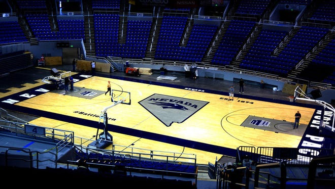 The Wolf Pack's new basketball court.