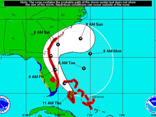 Hurricane Matthew update at 11 a.m.