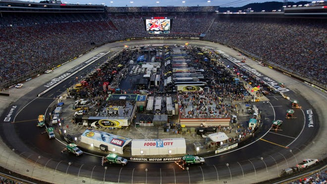 The nighttime race at Bristol Motor Speedway is one of NASCAR's most popular.