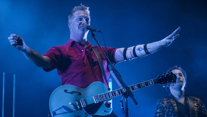 Queens of the Stone Age performs during the Innings Festival on Friday, Mar. 23, 2018 at Tempe Beach Park in Tempe, Ariz.