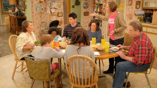 """The revival of """"Roseanne"""" premiered on ABC on March 27."""
