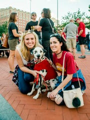 Reghan Markert, 25, her dog Ronald, and Meredith Keeler,