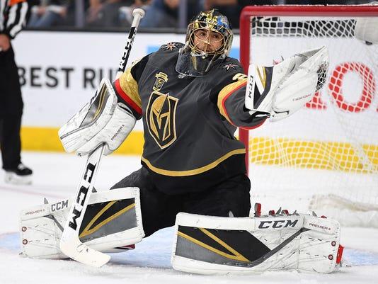 USP NHL: STANLEY CUP PLAYOFFS-WINNIPEG JETS AT VEG S HKN VGK WPG USA NV