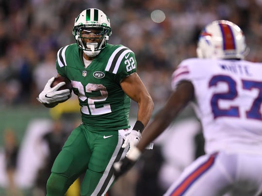 New York Jets running back Matt Forte (22) rushes for