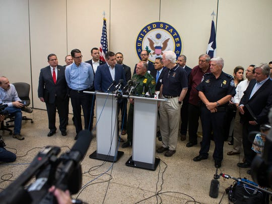 U.S. Senators Ted Cruz and John Cornyn, both R-Texas, host a round table meeting at the Border Patrol Station in Weslaco, Texas to discuss immigration policy on Friday, June 22, 2018.