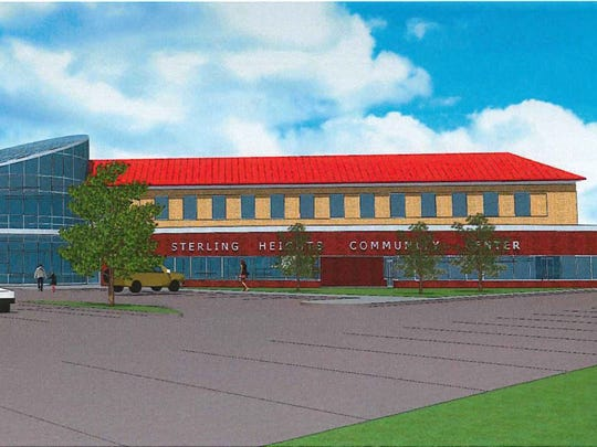 Artist rendering of a Sterling Heights Community Center that would be built under a proposed millage.