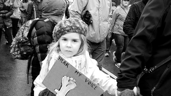 """A photo by Diane Beals is among those on display at Bush Barn Art Center for the exhibit """"Stronger Together: Images from the Women's March in Salem"""" running March 12-28. Catch the artist reception 5:30 to 7:30 p.m. March 17."""