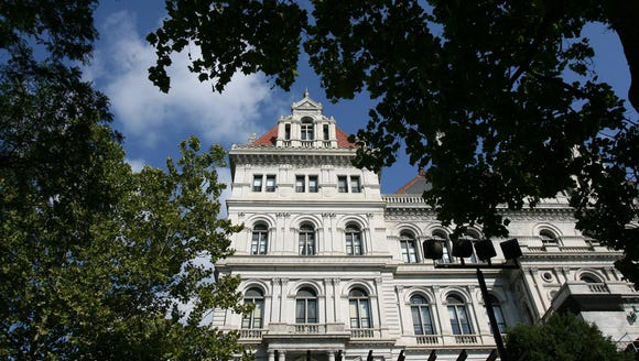 A view of the Capitol Building in Albany.