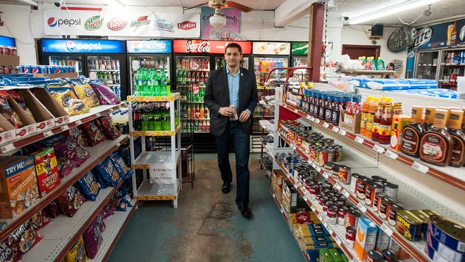 Del. Sam Rasoul, D-Roanoke, visits the convenience store his parent used to own, on Dec. 12, 2016 in Roanoke, Va. MUST CREDIT: photo for The Washington Post by Jay Westcott.