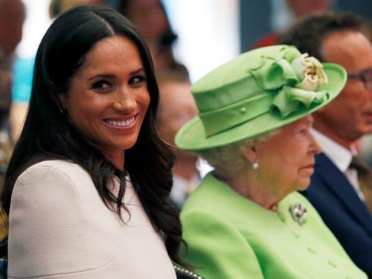 Queen Elizabeth II and Duchess Meghan of Sussex visit