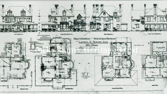 Drawing for the George S. Schmidt house at George and Springettsbury, York