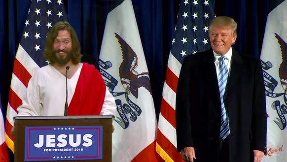 'Jesus' and Presbyterian Donald Trump.