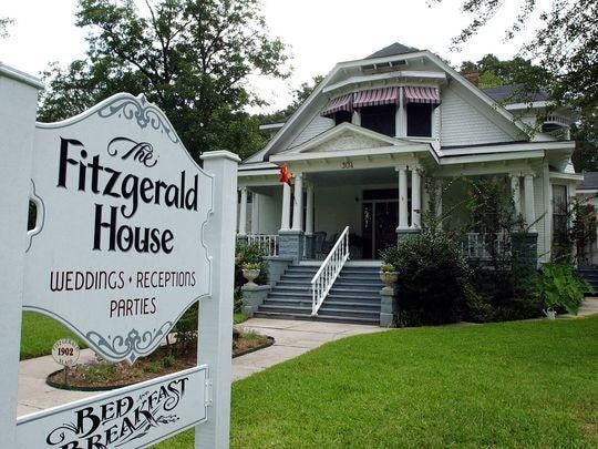 The Fitzgerald House Bed and Breakfast in Minden. The historic home is on the National Register of Historic homes located one block off the downtown brick streets.