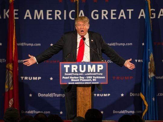 Republican presidential candidate Donald Trump speaks at a rally Dec. 7 in Mt. Pleasant, South Carolina.